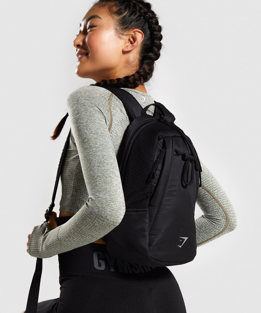 Gymshark Mini Mesh Backpack - Black 1
