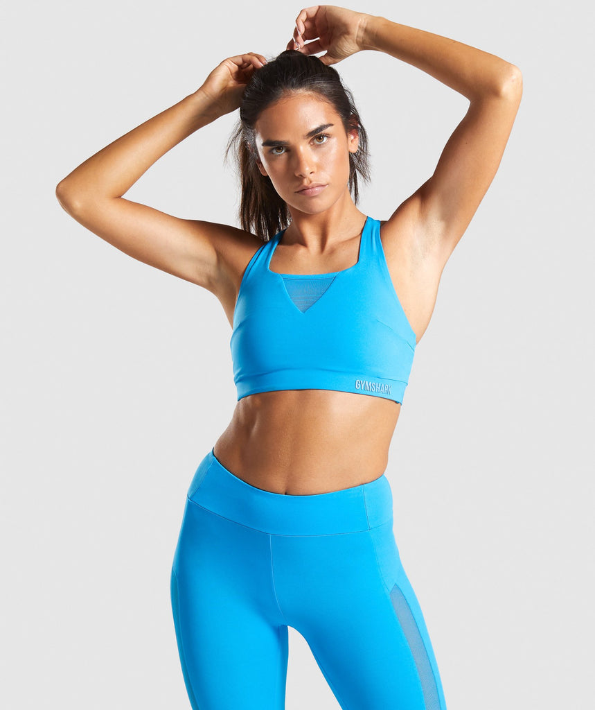 Gymshark Move Sports Bra - Blue 1