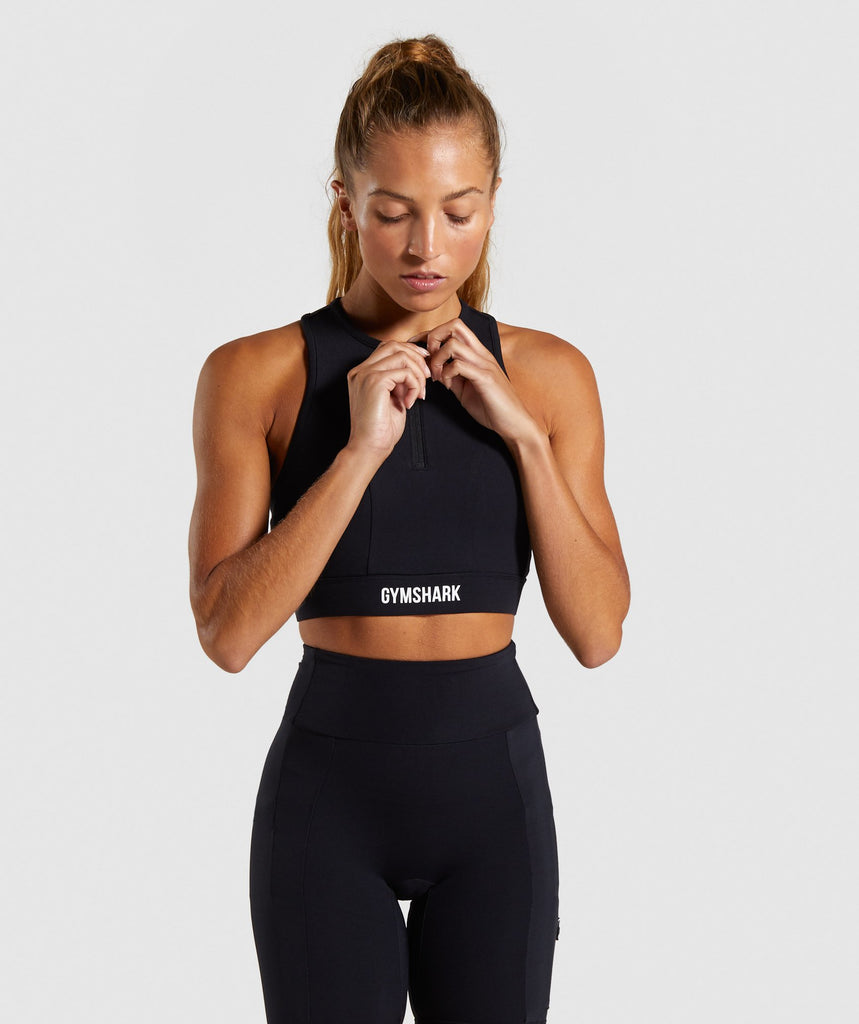 Gymshark Non Stop Sports Bra - Black 1
