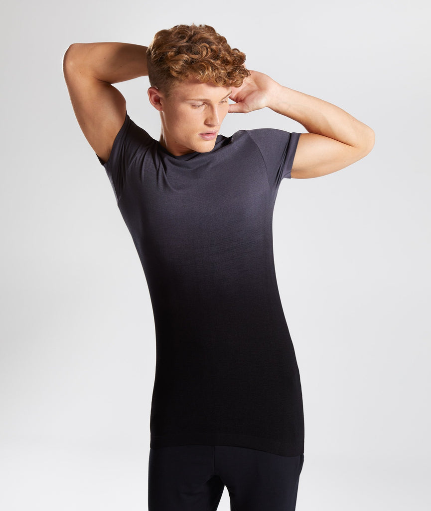 Gymshark Ombre T-Shirt - Charcoal/Black 1