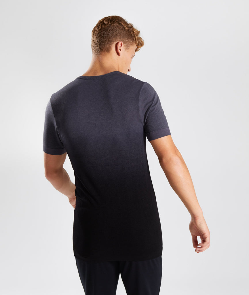 Gymshark Ombre T-Shirt - Charcoal/Black 2