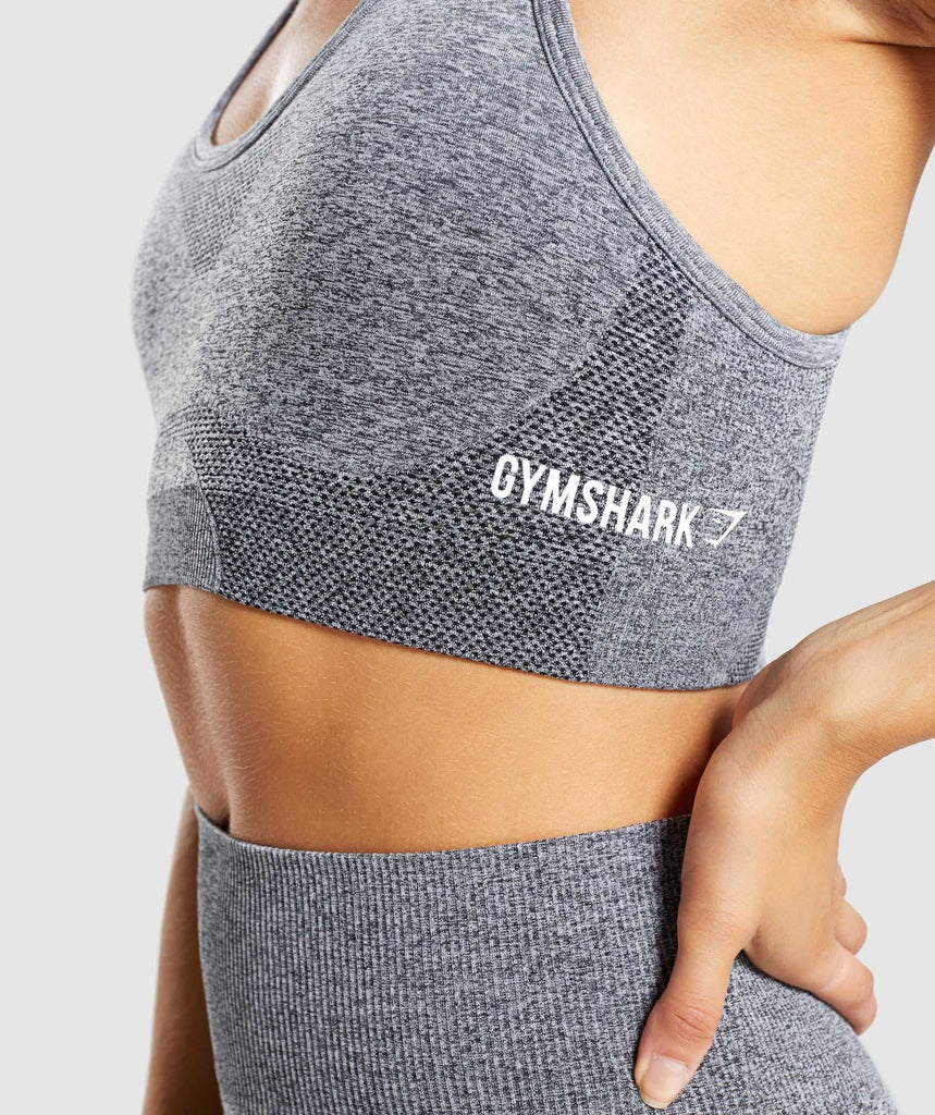 Gymshark Ombre Seamless Sports Bra  - Black/Light Grey 6