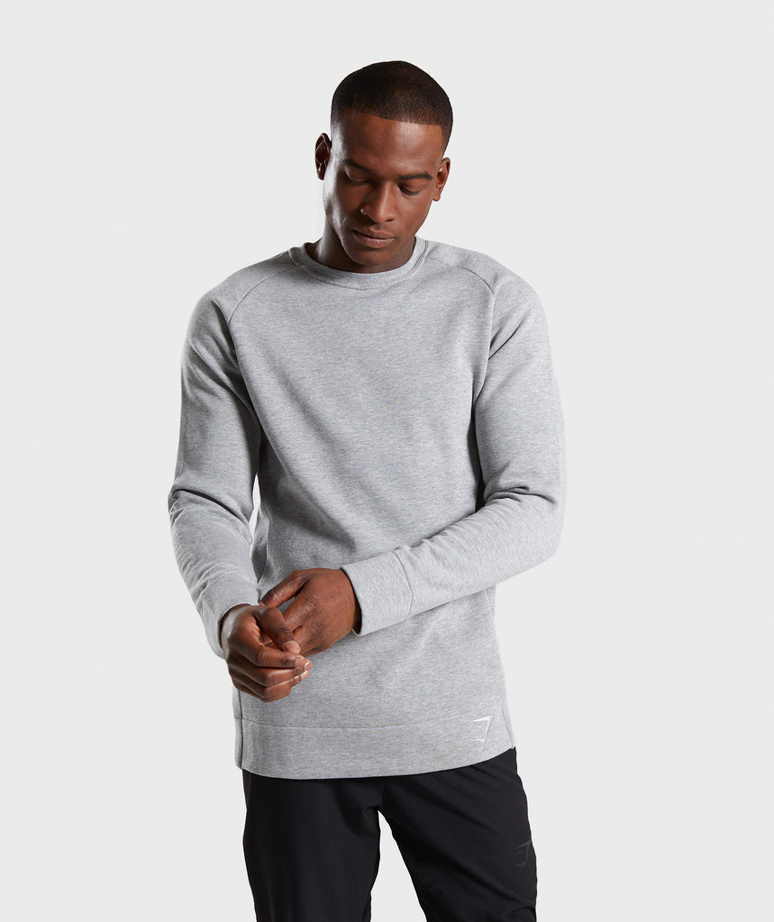 Gymshark Oversized Sweater - Light Grey Marl 1