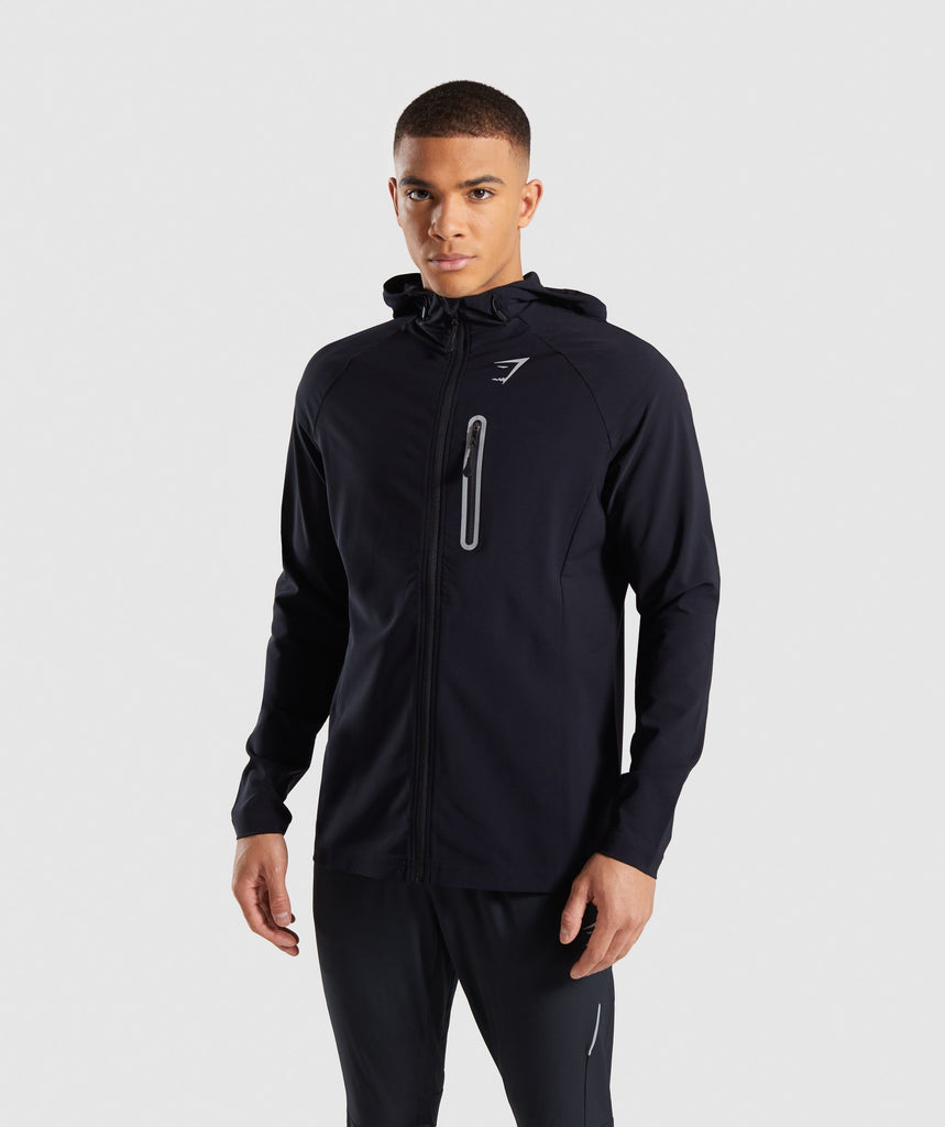 Gymshark Pace Running Jacket - Black 4