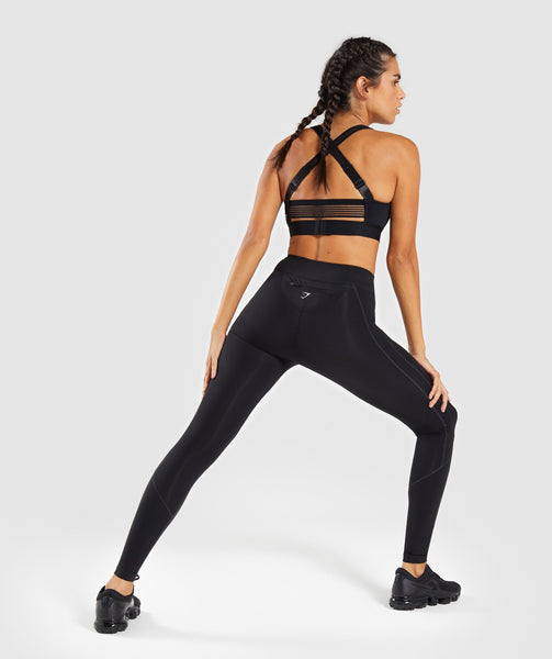 Gymshark Pace Running Leggings - Black 1