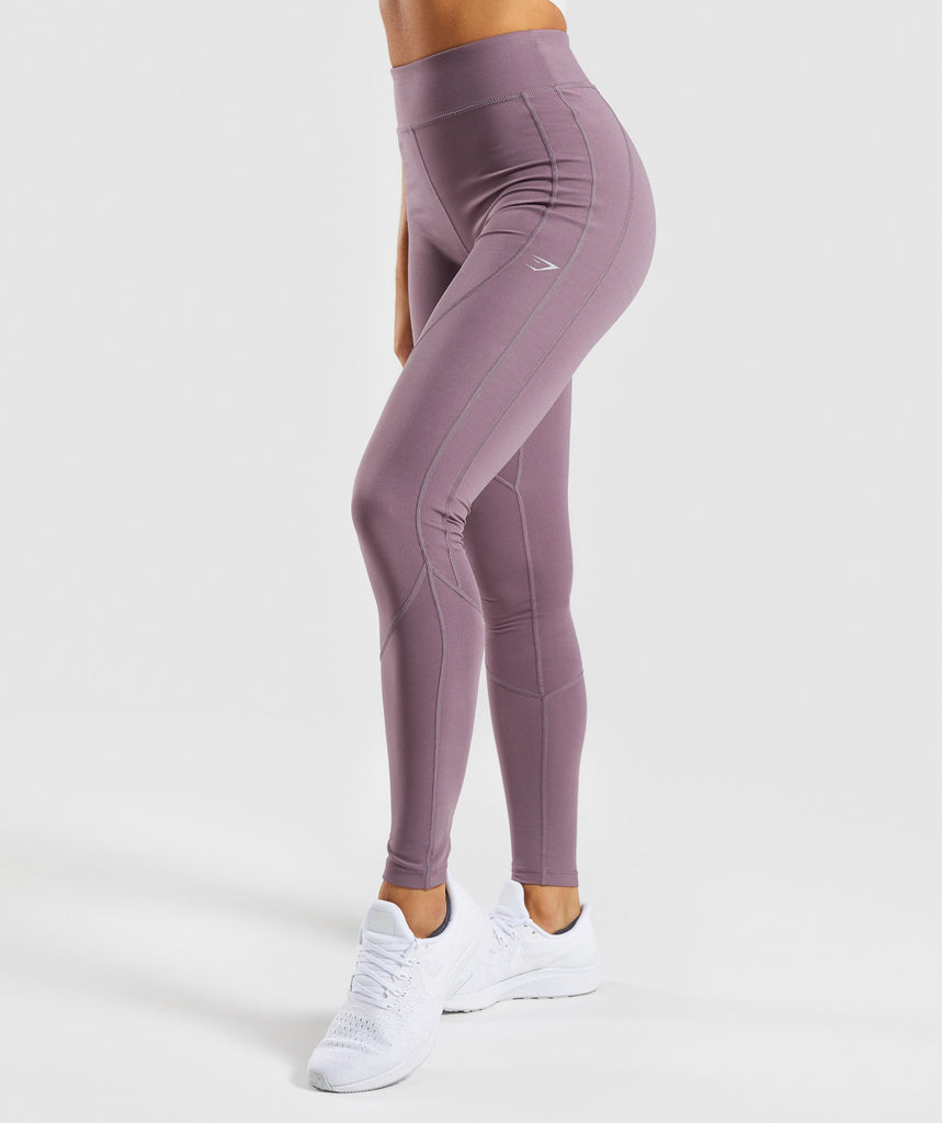 Gymshark Pace Running Leggings - Purple Wash 1