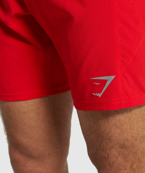 Gymshark Performance Board Shorts - Red 4