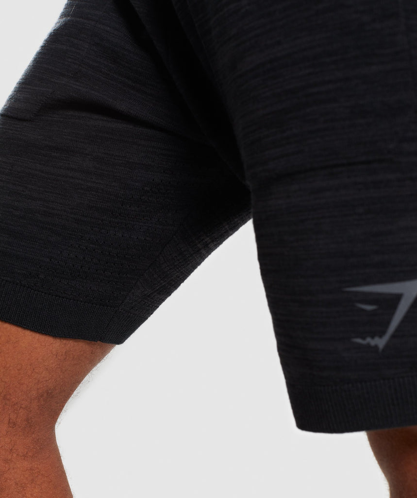 Gymshark Pinnacle Knit Shorts - Black Marl 6