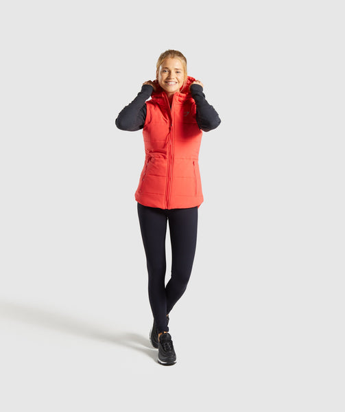 Gymshark Primary Puffer Gilet - Pop Red 1