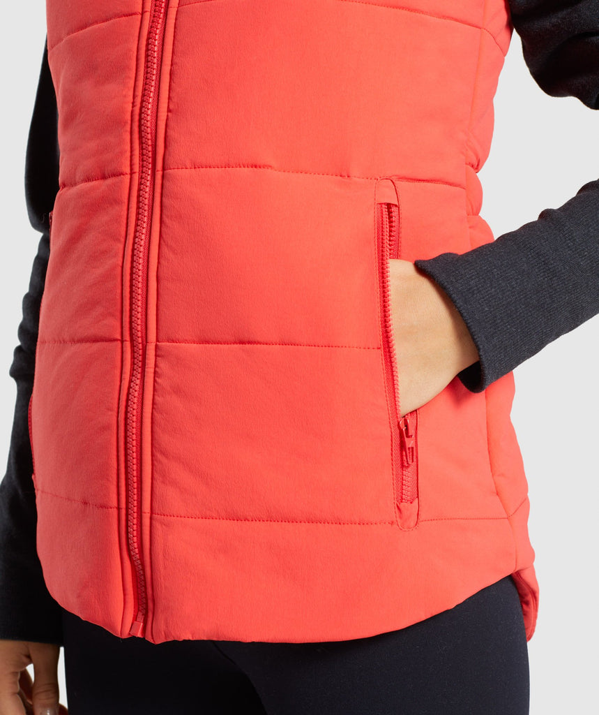Gymshark Primary Puffer Gilet - Pop Red 5