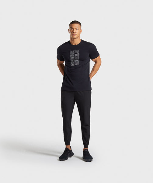 Gymshark Profile T-Shirt - Black 3
