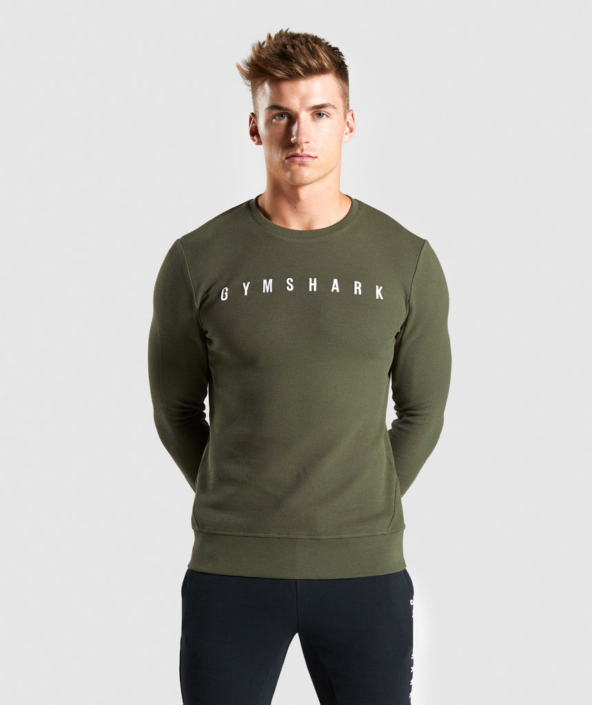 Gymshark Recharge Sweater - Green 1