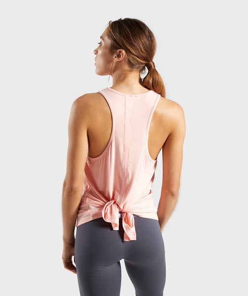 Gymshark Relaxed Graphic Vest - Washed Peach 2
