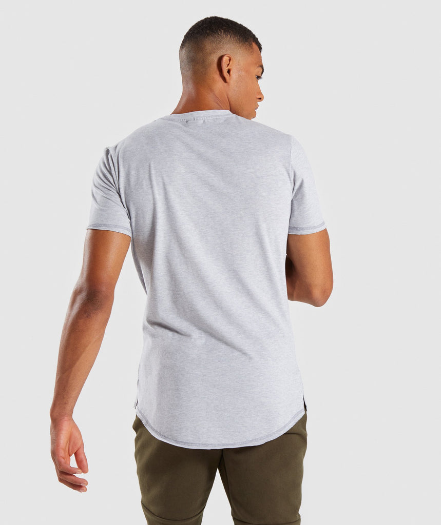 Gymshark Raised Logo T-Shirt - Light Grey Marl 2