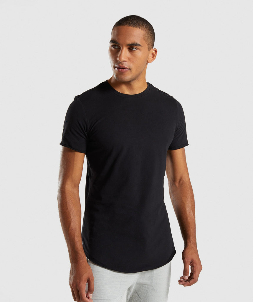 Gymshark Raised Logo T-Shirt - Black 1
