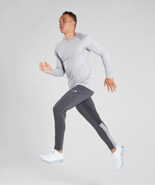 Gymshark Reactive Training Bottoms - Charcoal/Light Grey 3
