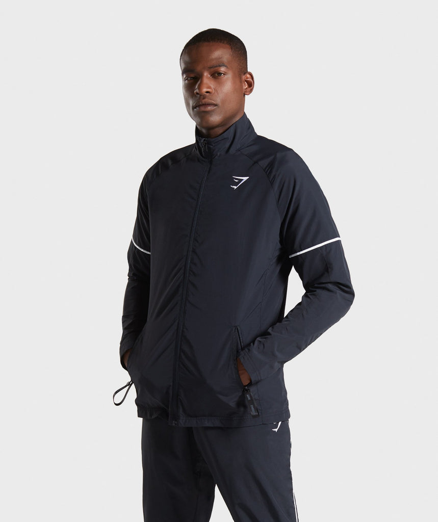 Gymshark Recess Track Top - Black 1