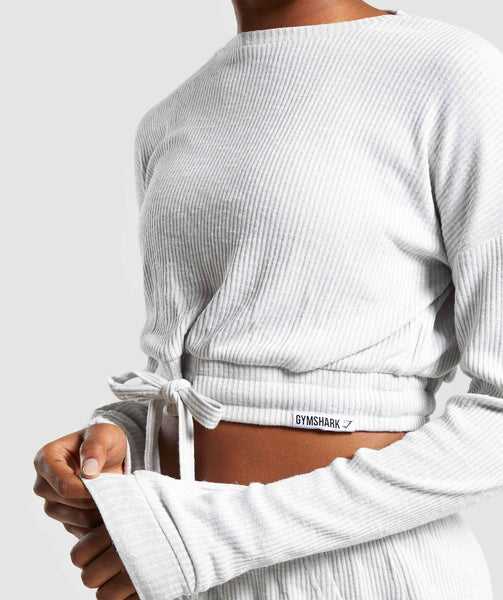 Gymshark Relaxed Sweater - Light Grey 4