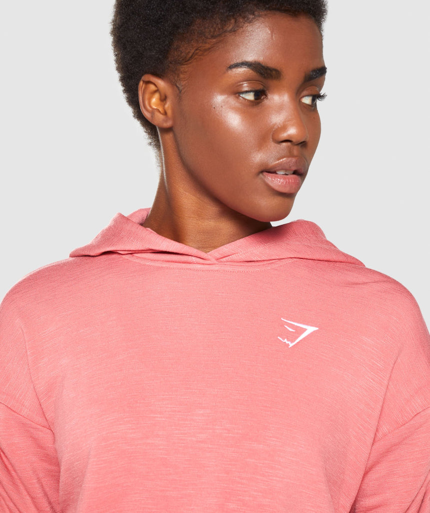 Gymshark Ruched Cropped Hoodie - Brick Red 6