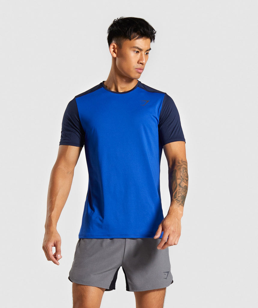 Gymshark Speed T-Shirt - Blue 1