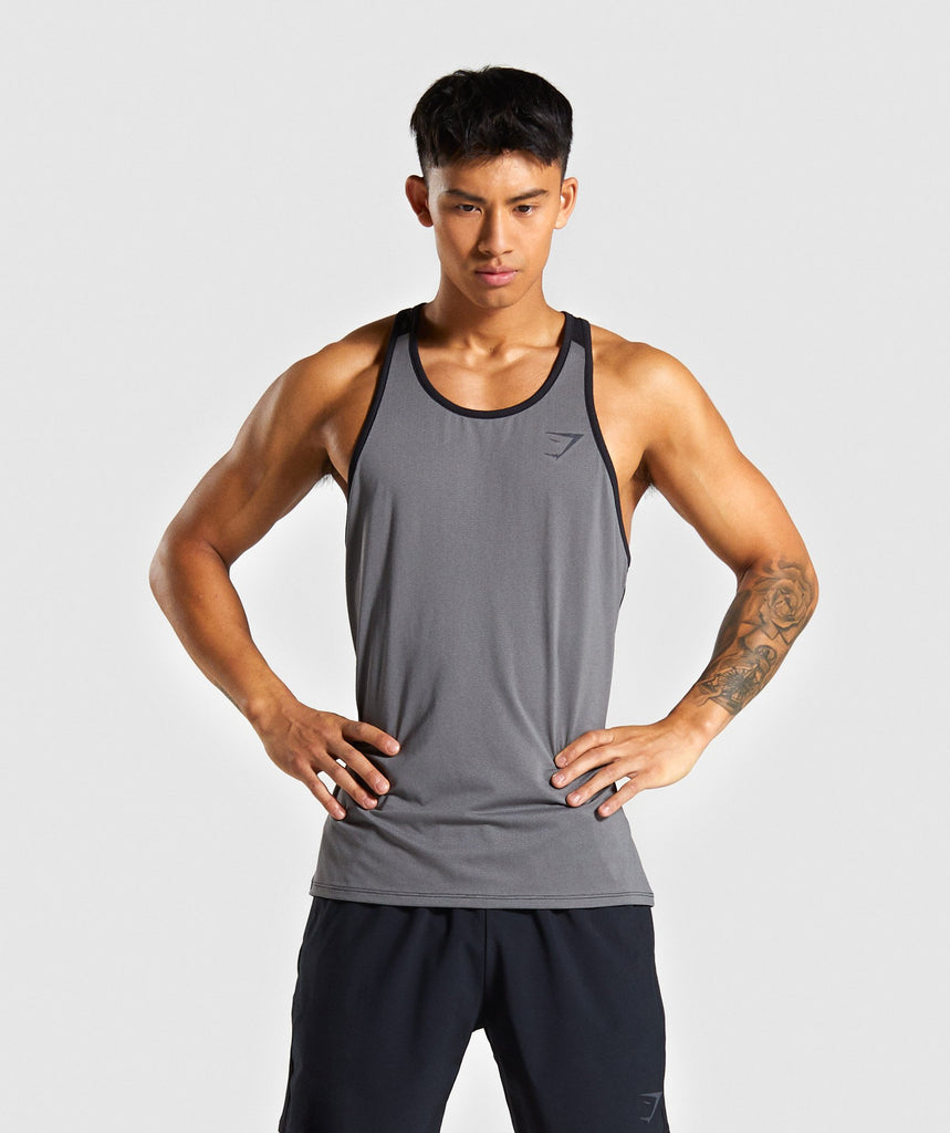 Gymshark Speed Tank - Grey 1