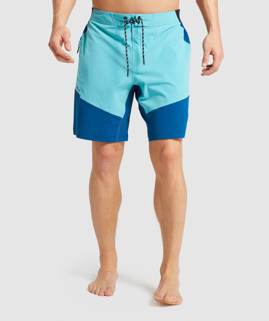 Gymshark Swim Board Shorts - Aqua Green/Petrol Blue 1