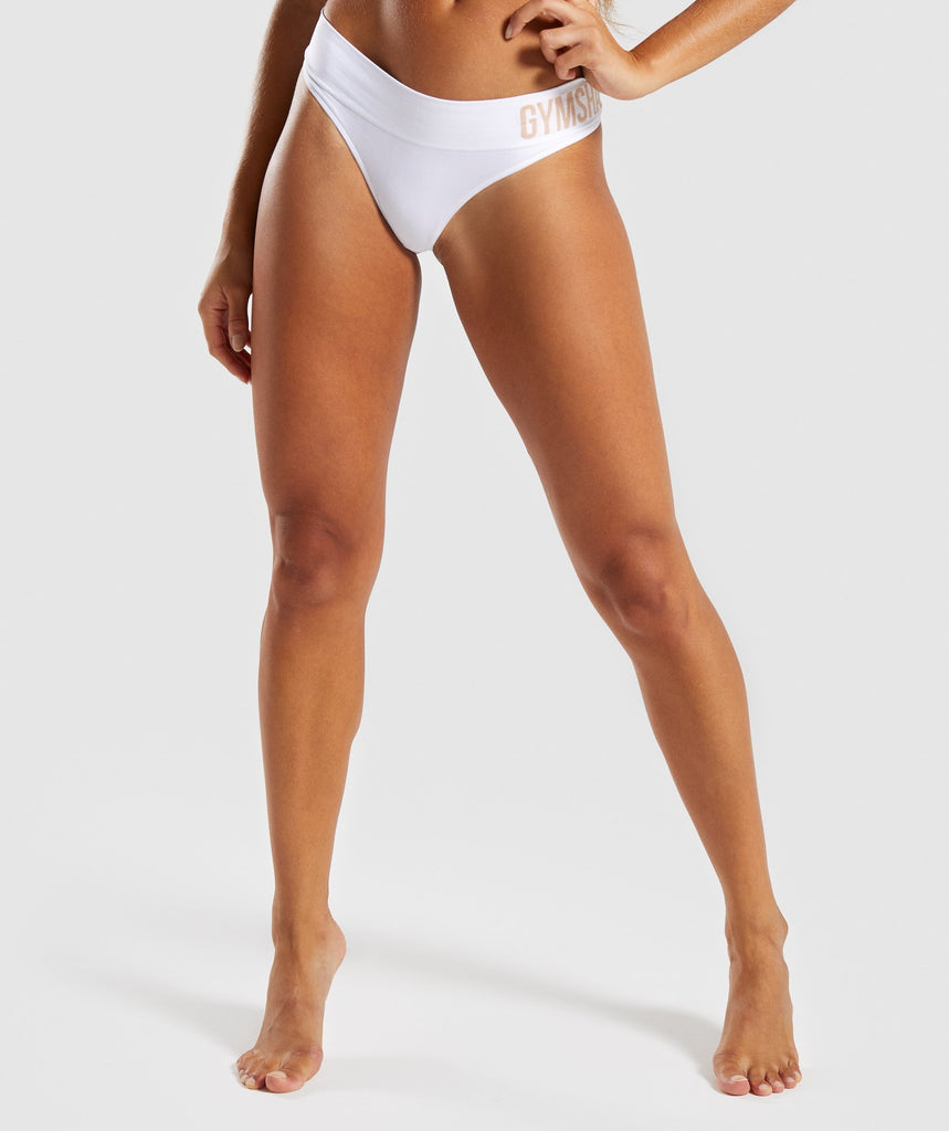 Gymshark Seamless Thong - White 1