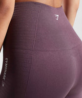 Gymshark Energy Seamless High Waisted Leggings - Purple Wash 12