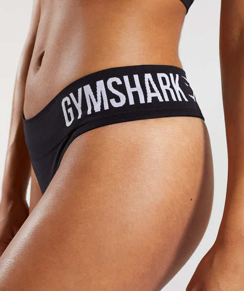 Gymshark Seamless Thong - Black 4