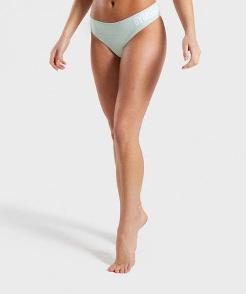 Gymshark Seamless Thong - Light Green 2