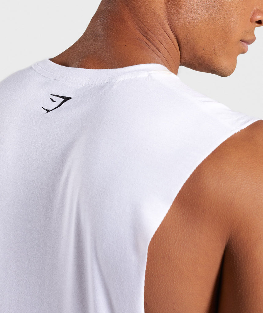 Gymshark Shadow Drop Armhole Tank - White 6