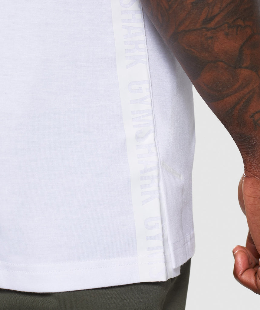 Gymshark Shadow T-Shirt - White 5