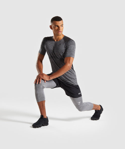 Gymshark Shadow Seamless T-Shirt - Black Marl 3