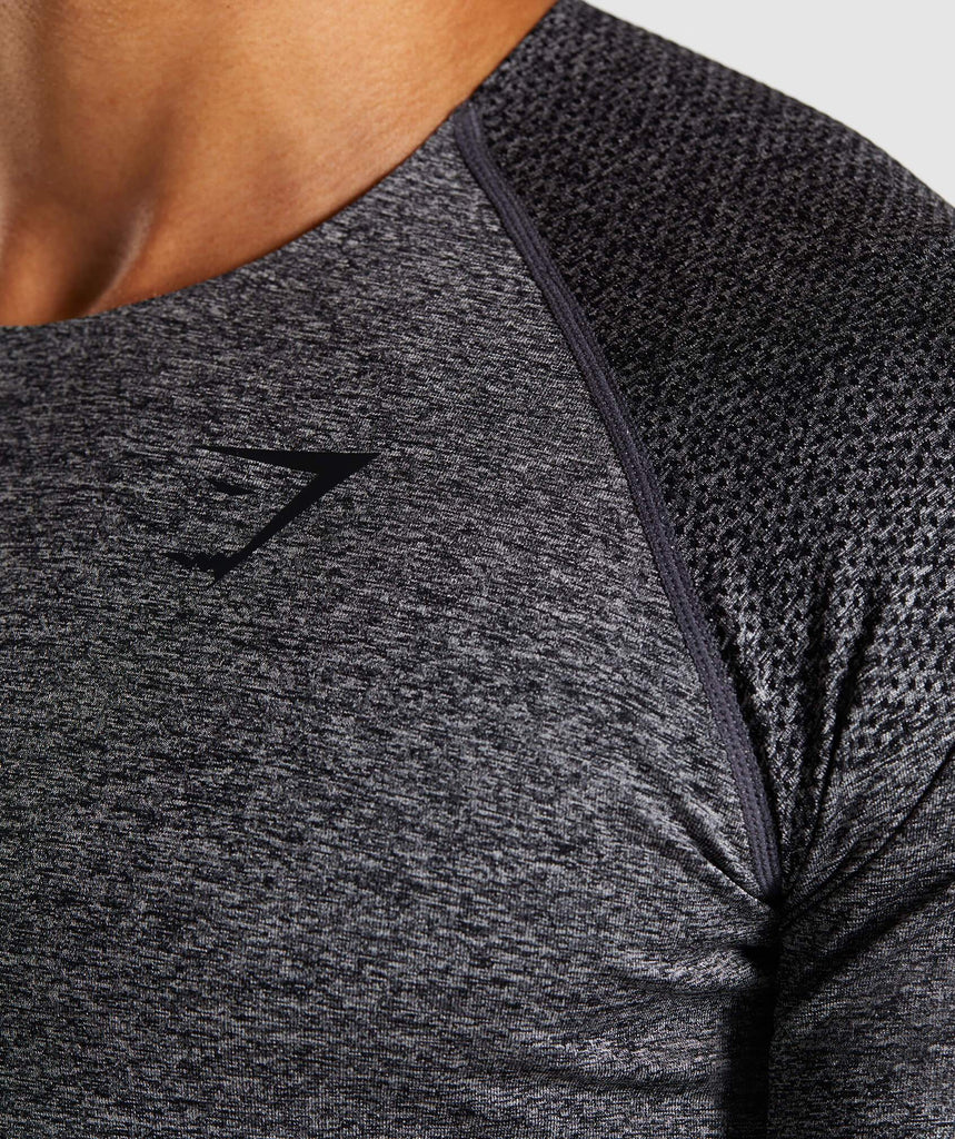 Gymshark Shadow Seamless T-Shirt - Black Marl 5