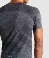 Gymshark Shadow Seamless T-Shirt - Black Marl 12
