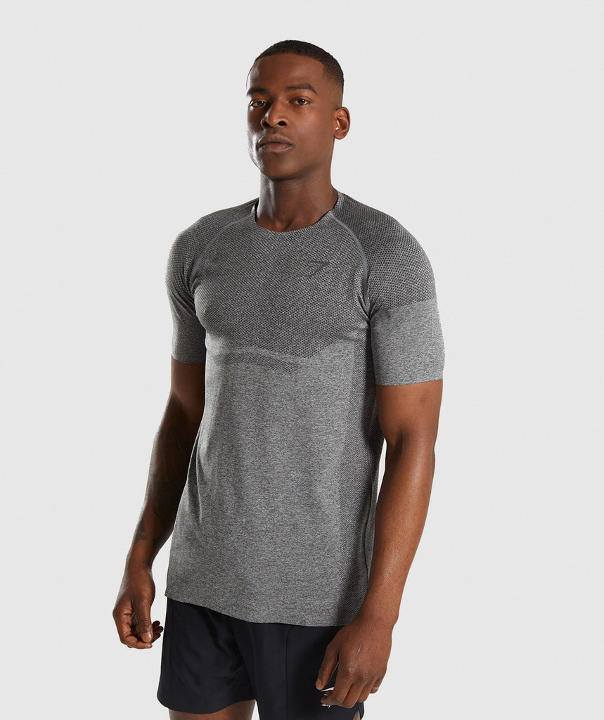 Gymshark Shadow X Seamless T-Shirt - Charcoal Marl 4