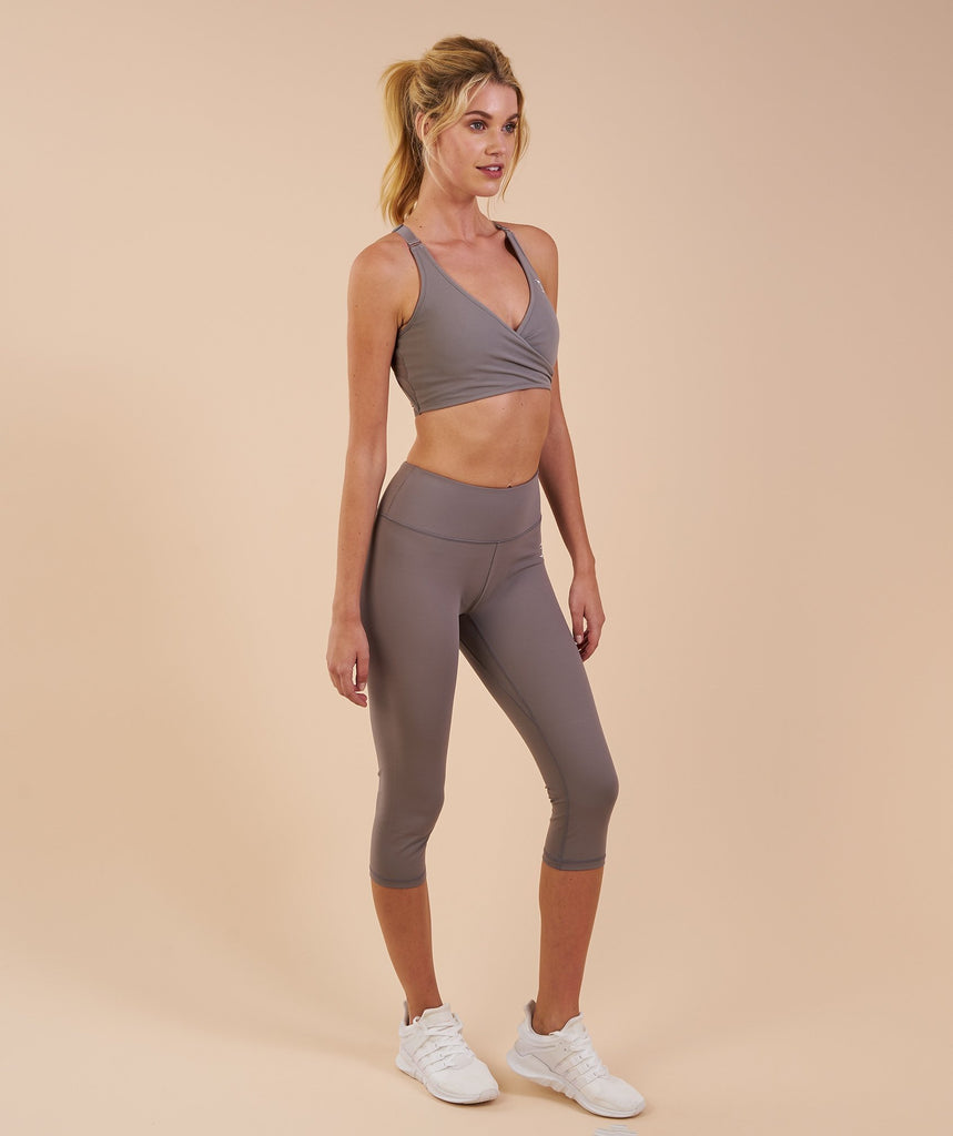 Gymshark Dreamy Cropped Leggings - Slate Grey 5