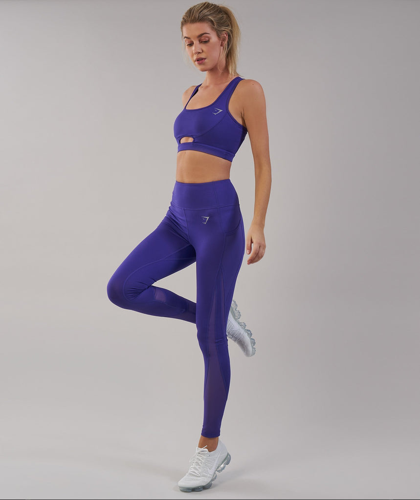 Gymshark Sleek Sculpture Leggings 2.0 - Indigo 1