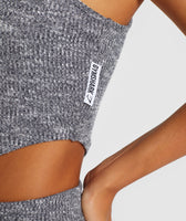 Gymshark Slounge Crop Top - Charcoal Marl 12
