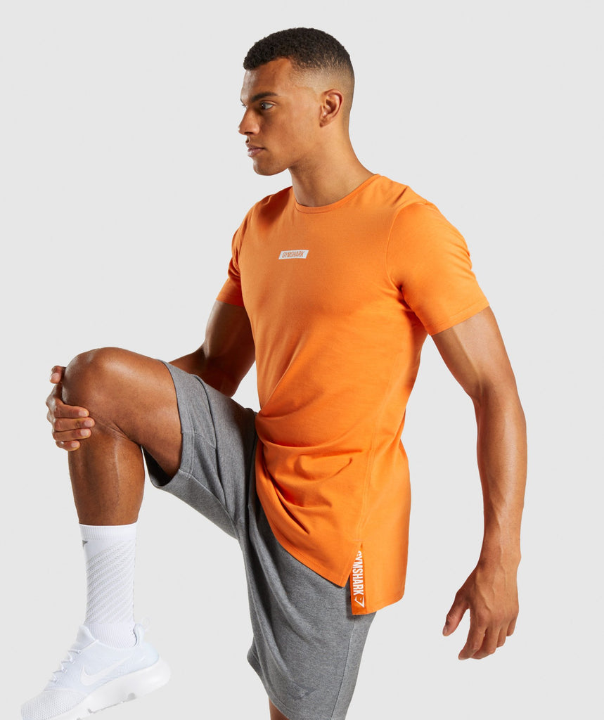 Gymshark Central T-Shirt - Sunset Orange 1
