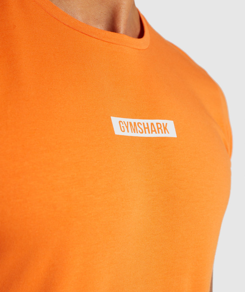 Gymshark Central T-Shirt - Sunset Orange 5