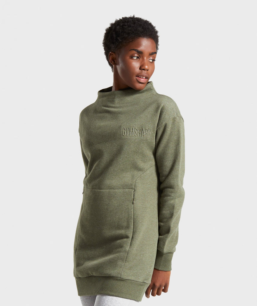Gymshark So Soft Sweater - Khaki Marl 1