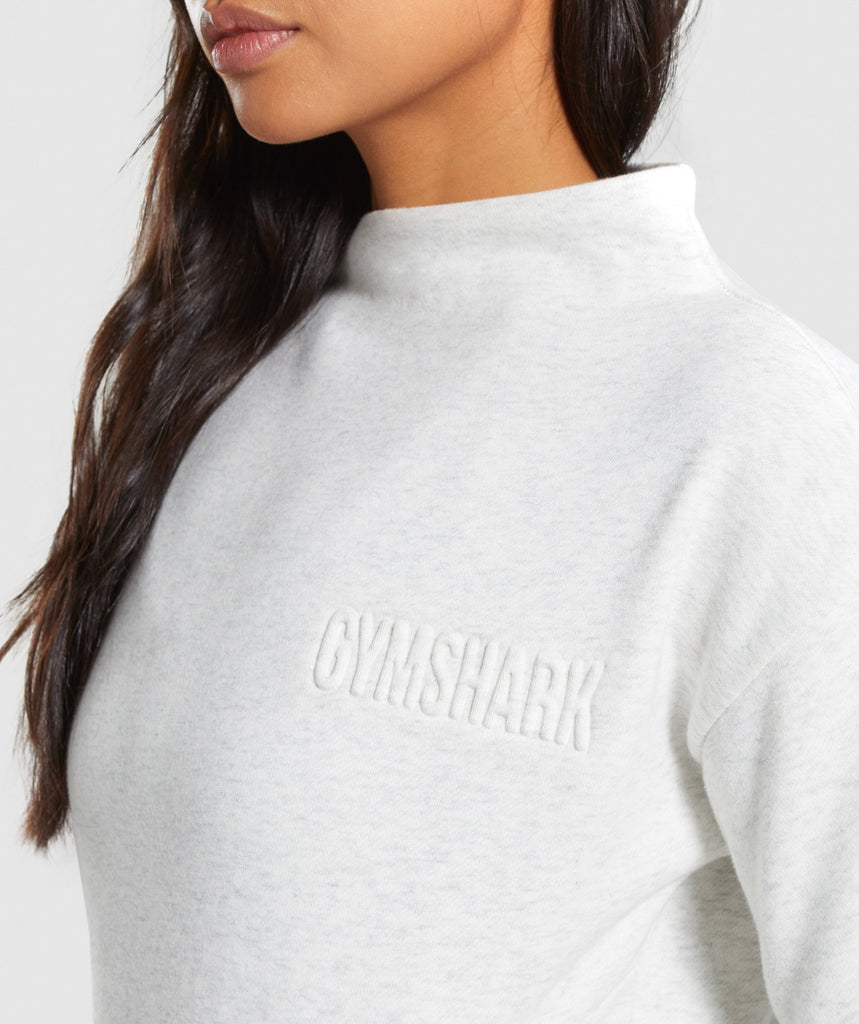 Gymshark So Soft Sweater - White Marl 5