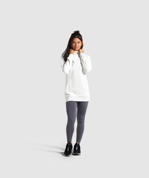 Gymshark So Soft Sweater - White Marl 3