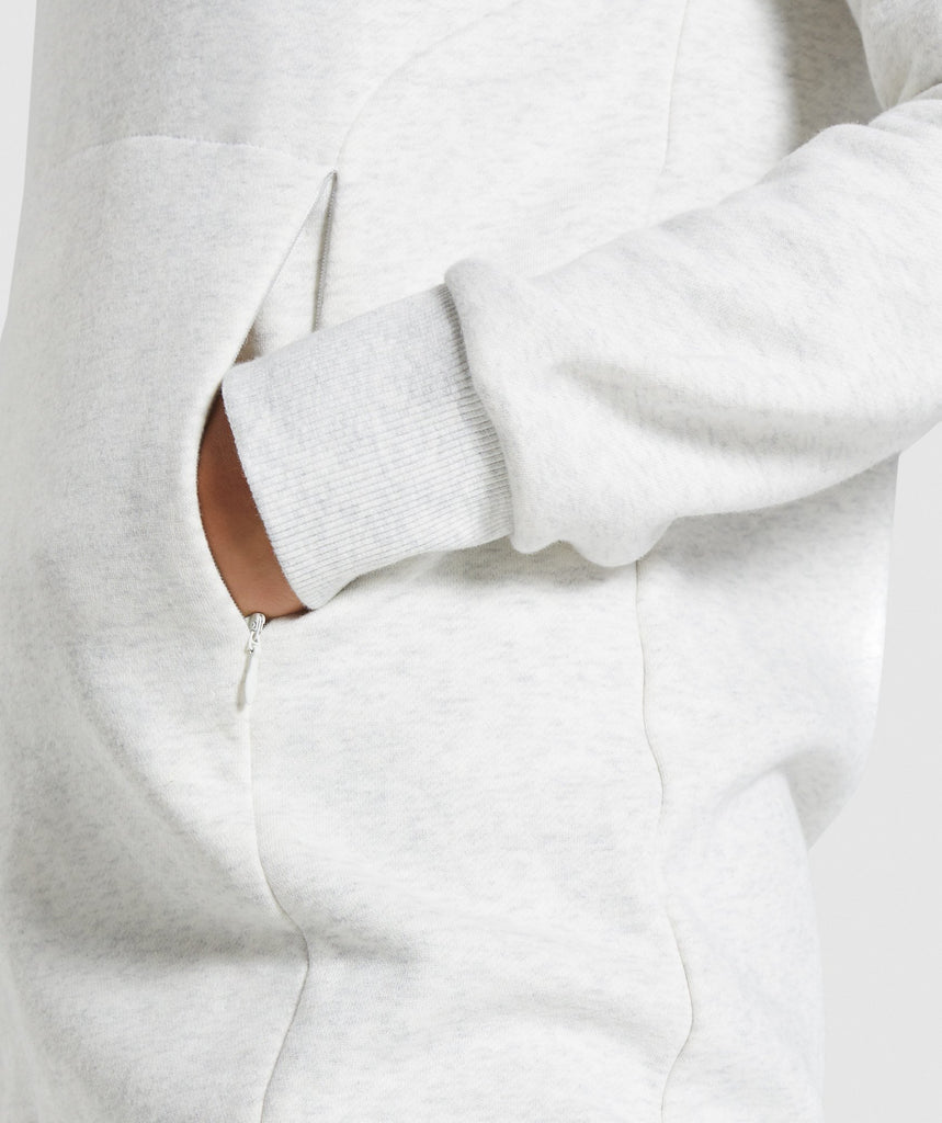 Gymshark So Soft Sweater - White Marl 6