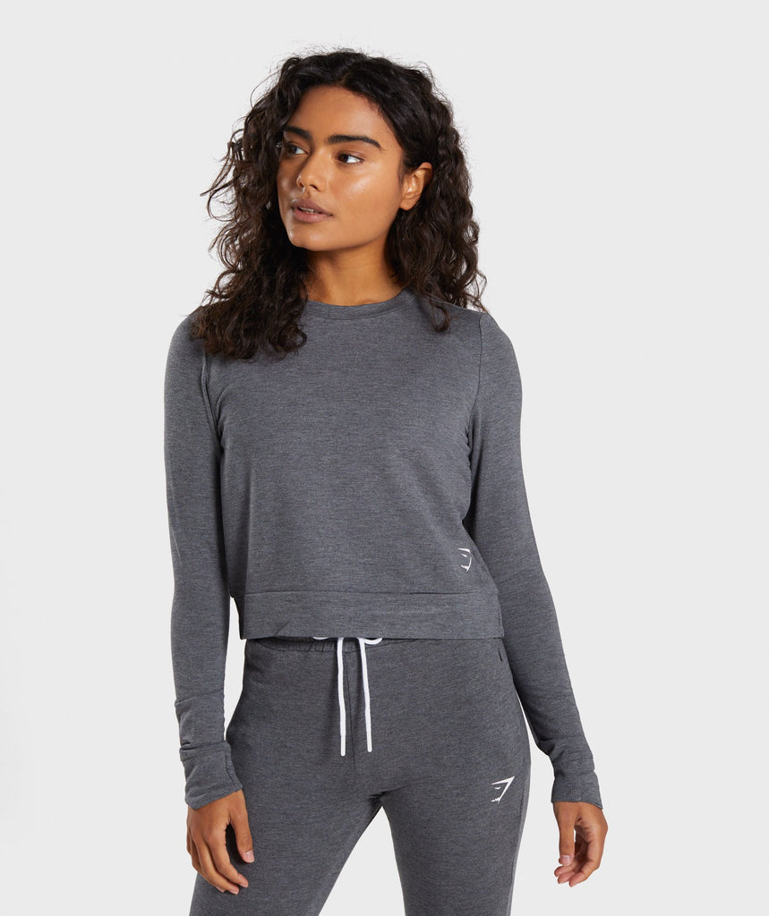 Gymshark Solace Sweater - Charcoal Marl 1