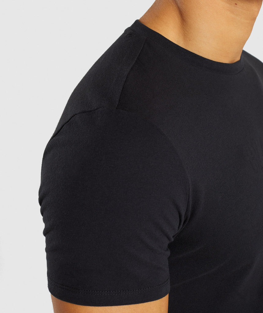 Gymshark Stamped Logo T-Shirt - Black 6