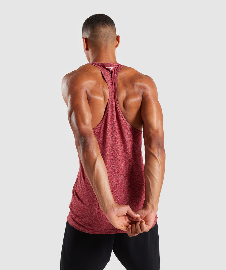 Gymshark Statement Stringer - Red Marl 2