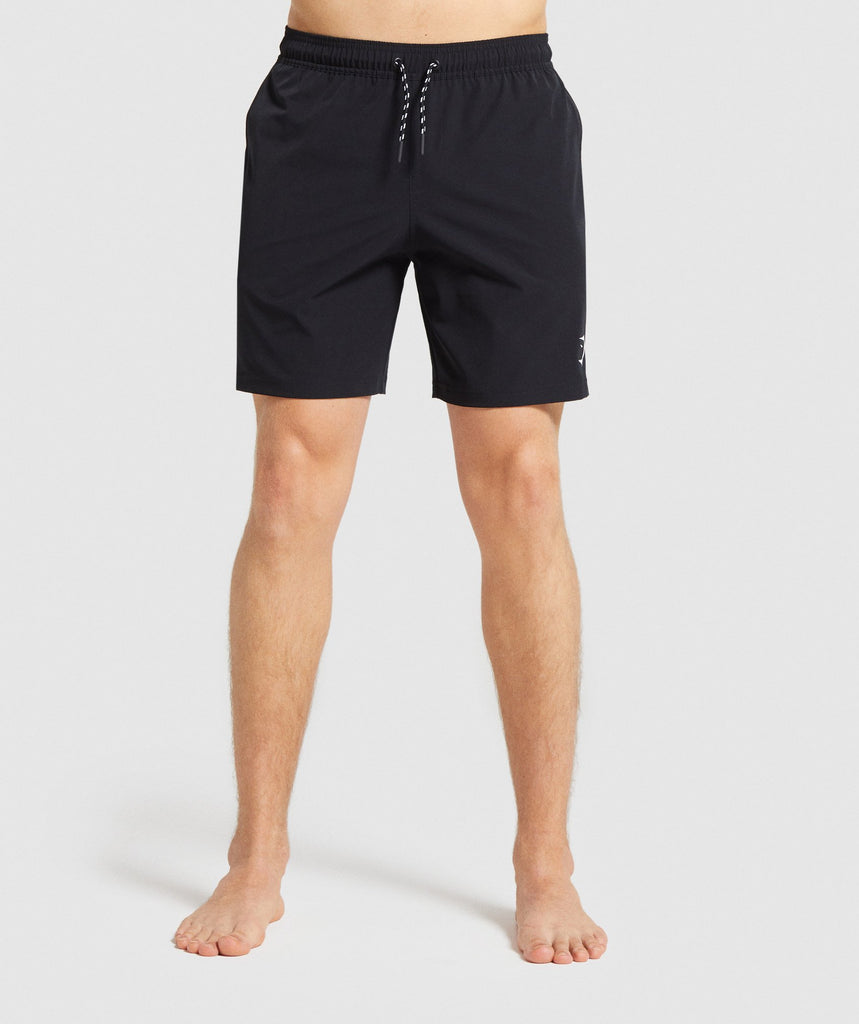 Gymshark Taped Swim Shorts - Black 1