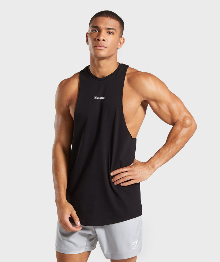 Gymshark TPT Cutaway Drop Arm Tank - Black 1